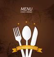 Restaurant Menu Premium Quality vector image