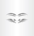 stylized black bird wings vector image