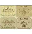 Vintage wine design elements vector image