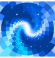 Abstract blue mosaic spiral vector image