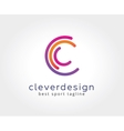 abstract c character logo icon concept logotype vector image vector image