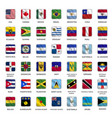 all american country flags icons square shape vector image