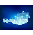 Austria country map polygonal with spot lights vector image vector image