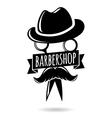 Barbershop hipster logo character vector image vector image