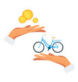 bicycle purchase flat vector image vector image