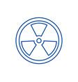 biohazarddangerous radiation line icon concept vector image