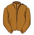 brown jacket on white background vector image vector image