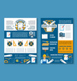 building construction interior design poster set vector image vector image