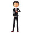 businessman asian thumbs down angry unhappy vector image vector image