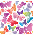 butterfly seamless pattern summer holiday vector image vector image