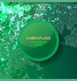 camouflage green background vector image vector image