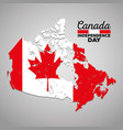 canadian map silhouette icon vector image vector image