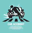 Car Accident Knocked Down A Man vector image vector image