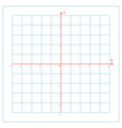 cartesian coordinate system on blue graph paper vector image