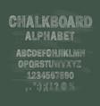 chalkboard school alphabet vector image vector image