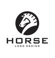chess horse logo design vector image
