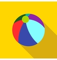 Colorful ball icon flat style vector image vector image