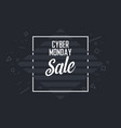 cyber monday sale banner background template vector image