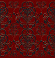 damask baroque seamless pattern vector image