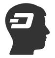 dash brain flat icon vector image