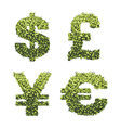 Dollar euro pound and yen currency vector image vector image