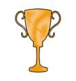 drawing trophy award sport winner element vector image vector image
