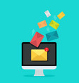 email on computer screen for marketing newsletter vector image