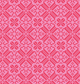 embroidered nordic red pink pattern vector image vector image