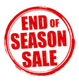 end of season sale grunge rubber stamp vector image vector image