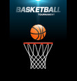 flyer or web banner design with basketball hoop vector image