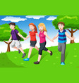 friends holding hands vector image vector image