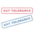 gay tolerance textile stamps vector image vector image
