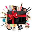 gift card with cosmetic vector image