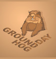 groundhog day of cute cartoon vector image