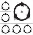 grunge shapes set vector image