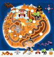 Halloween Game Assets Map vector image vector image