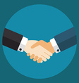 Handshake businessmen making a deal vector image