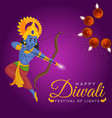 happy diwali banner design vector image