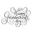 happy grandparents day text on white background vector image vector image