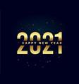 happy new year 2021 golden elegant vector image