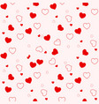 heart seamless patterncolorful heartspackaging vector image