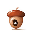 hole eye in acorn nuts vector image