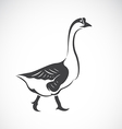 image of a goose on white background vector image vector image