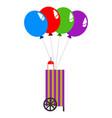 isolated balloon cart vector image
