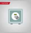 isolated security flat icon safe element vector image
