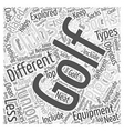 Junior Golf Equipment Word Cloud Concept vector image vector image