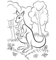 Kangaroo with the baby vector image