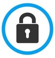 Lock Keyhole Flat Rounded Icon vector image
