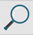 loupe sign icon in transparent style magnifier on vector image