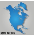 map north america vector image